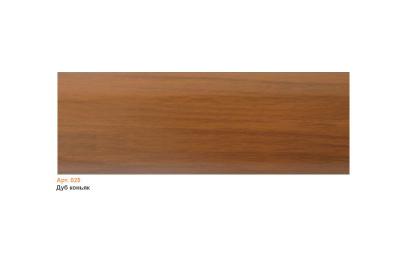 025 Плинтус пластиковый Чайка кк,мягкий край 2,5 м дуб коньяк