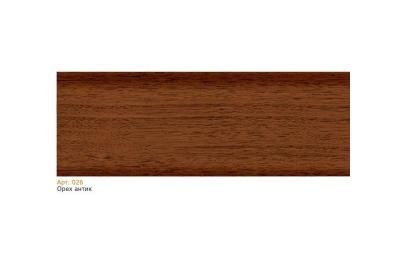 026 Плинтус пластиковый Чайка кк,мягкий край 2,5 м орех антик