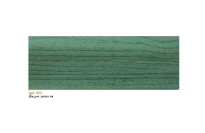 069 Плинтус пластиковый Чайка кк,мягкий край 2,5 м вишня зеленая