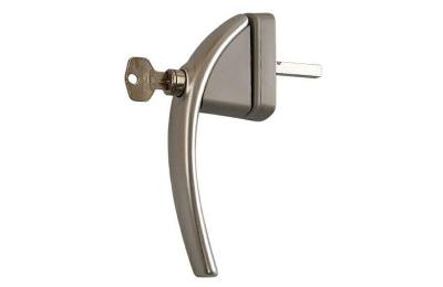 Ручка оконная ROTO SWING с ключом, 37 мм, +2 винта 5х45 серебро