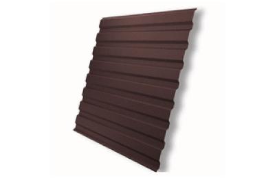 Профнастил полимер С8 0,4 (1150/1200х2000мм) 2,4м2 8017 шоколад