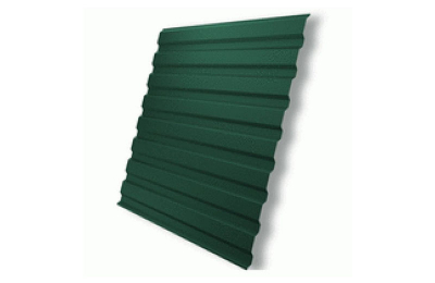 Профнастил полимер СП 20 0,4 (1100/1150х2000мм) 2,3м2 6005 зеленый мох