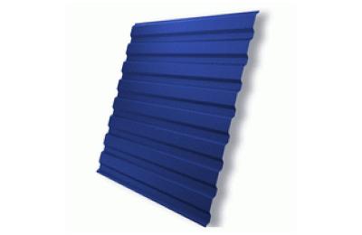 Профнастил полимер С8 0,4 (1150/1200х2000мм) 2,4м2 5005 синий
