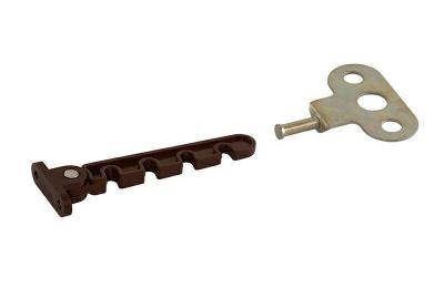 Ограничитель открывания Internika (овальный), коричневый